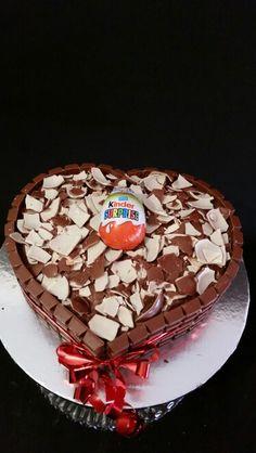 Kinder egg chocolate birthday cake