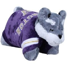 Washington Huskies Mascot Pillow Pet. Awww its dubs (: $29.95  NEED A HUSKY PILLOW PET!!!