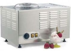 You can create the smoothest frozen desserts imaginable with the Musso Pola ice cream maker. Check out this small-batch ice cream maker right here! Commercial Ice Cream Machine, Gelato Machine, Gelato Maker, Ice Cream Maker Reviews, Snow Ice Cream, Dessert Makers, Fruit Sorbet, Paleo, Stainless Steel Bowl