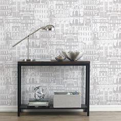 Facade Wallpaper - Double Roll/WALLPAPER/WALL DECOR|Bouclair.com
