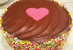 Jillie's Chocolate Rainbow cake w/ Sprinkles