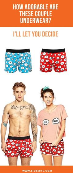4c7cb5ac53 23 Best Matching Couples Underwear images in 2019 | Couple clothes ...