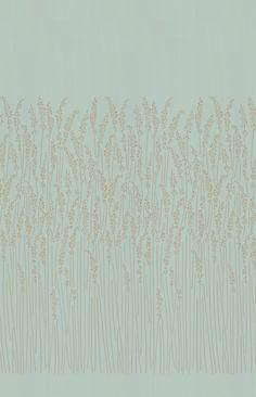 Feather Grass Blue wallpaper by Farrow