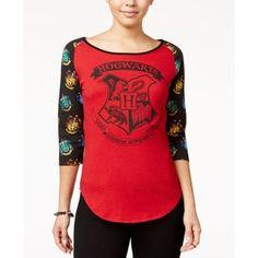 Bioworld Juniors' Harry Potter Hogwarts Graphic T-Shirt