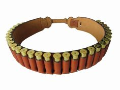 Tourbon Hunting Gun Accessories Heavy Duty Brown Leather Shot Gun 20 Gauge Ammo Belt Game Carrier