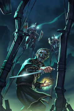 Cover illustration for the Dishonored comic book series from Titan Comics.