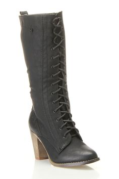 lace up knee boots / Yoki $30