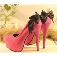 Fashion Lovely Bowknot  High Heel Prom Shoes