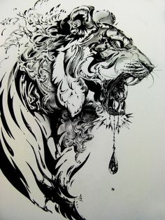 tiger tattoo idea. I'd get it if I liked big tattoos