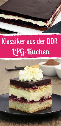 LPG cake is the classic from the GDR- LPG-Kuchen ist der Klassiker aus der DDR Lbg cake from the GDR - Easy Smoothie Recipes, Easy Smoothies, Snack Recipes, Dessert Recipes, Cheesecake Recipes, Cupcake Recipes, Homemade Cheesecake, Torte Au Chocolat, Cinnamon Cream Cheeses