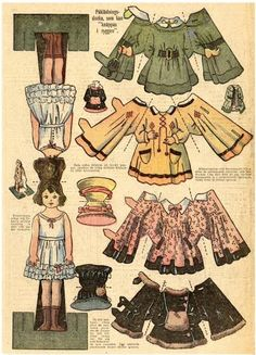 double sided paper doll - Google Search