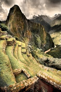 Machu Piccu By Chris Perry To get to Machu Picchu, international flights arrive in Lima, Peru, located on the Pacific coast. Connect or straight flight into Cusco Airport, then take a Train or you can do a hike to Machu Picchu Places Around The World, Oh The Places You'll Go, Places To Travel, Places To Visit, Around The Worlds, Travel Destinations, Machu Picchu, Wonderful Places, Beautiful Places