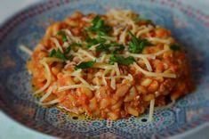 Snelle eenpans pastagerecht voor de drukke dames. 16 minutes pasta dish, simple and delicious.