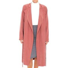 American Apparel Lightweight Dylan Trench in Cocoa Bean as seen on Hilary Duff