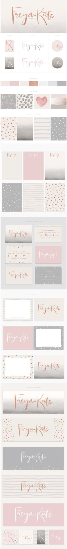 Brand Design | By Brand Me Beautiful // www.brandmebeautiful.co.uk | Freya Kate Collection