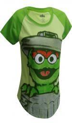 Sesame Street Oscar The Grouch Green Tee Shirt