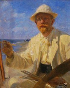 Kroyer, Peder Severin (1851-1909) - 1899 Self-Portrait (Hirschsprung Collection, Copenhagen, Denmark) by RasMarley, via Flickr