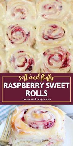 Raspberry Roll Recipe, Raspberry Recipes, Raspberry Filling, Raspberry Buns, Strawberry Desserts, Mexican Food Recipes, Sweet Recipes, Recipes For Sweets, Shrimp Recipes