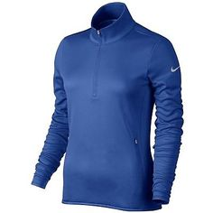 Coats and Jackets 181145: Nike Golf Women S Thermal 1 2 Zip Pullover (Game Royal Wolf Grey) S -> BUY IT NOW ONLY: $96.95 on eBay!