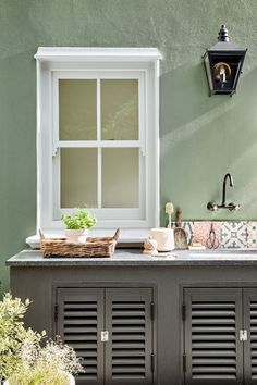 Traditional limewash paint forms a matt, breathable finish to protect porous stone walls (not brick or wood). Browse our colours for a limewash paint exterior. Little Greene Paint Company, Interior Modern, Interior Design, Small Space Design, Small Spaces, Luxury Wallpaper, Traditional Exterior, Gas Fire Table, Outdoor Kitchen Design