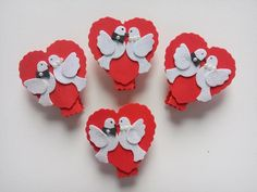 Anniversary Decorations, Wedding Crafts, Deco Table, Plastic Canvas, Polymer Clay, Valentines Day, Baby Shower, Crafty, Cards