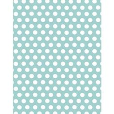 polka dot wrapping paper table runner