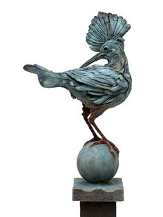 'Hoopoe' by Pierre Diamantopoulo. Part of FAUNA 2015 at gallerytop, opening 9 May