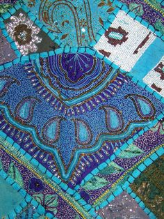 A tapestry, in this sort of style, with all the beautiful intricacies :) the kind you can get lost in admiring