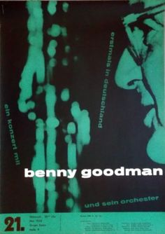 GOODMAN-BENNY-1958-Konzertplakat-Jazz-Michel-Kieser