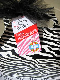 Zebra Tags - Christmas Free Printables