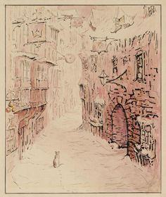 Helen Beatrix Potter 'Simpkin in the Snowy Street', c.1902