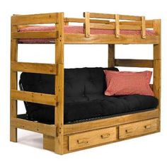 Queen Bed Over Futon Bunk Bed Awesome Decorating Ideas