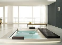 Seaside T07 Bathtub by Teuco  #bath #bathtub #pool #interior #room