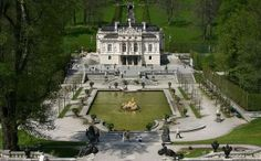 Linderhof Royal Castle Travel Destination. Linderhof royal castle is located in the southwest of Bavaria, Germany. This is one of three palaces that was built by King Ludwig III of Bavaria. The Versailles palace was the inspiration of the Linderhof