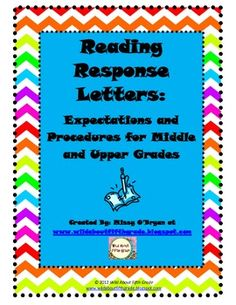 This FREE product details how to model, teach, organize and implement reading response letters during reading workshop. Reading response letters allow your students a place to write and reflect about the books they are reading. Weekly response letters ensure that you hear from each reader, each week. #wildaboutfifthgrade #readerresponse