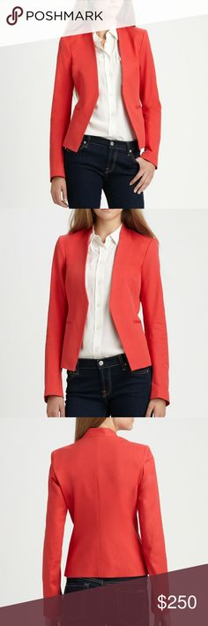 Theory red blazer Red Theory blazer. In perfect condition, fully lined theo Theory Jackets & Coats Blazers