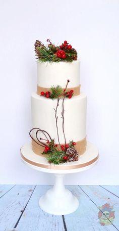 Winter wedding cake - Cake by Karen Keaney