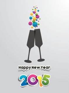 Happy New Year 2015 Greeting Card!!