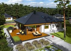 Astrid II G2 (mała) energo - zdjęcie 3 Single Floor House Design, Modern House Floor Plans, Best Home Interior Design, Home Design Decor, Design Ideas, Cool House Designs, Modern House Design, Single Storey House Plans, Residential Building Design