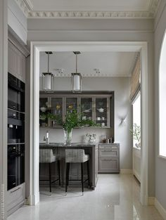 Easy Home Interior Design Tips That Anyone Can Implement – DecorativeAllure Home Design, Design Studio, Modern House Design, Design Ideas, Design Styles, Decor Styles, Grey Interior Design, Interior Exterior, Interior Design Kitchen