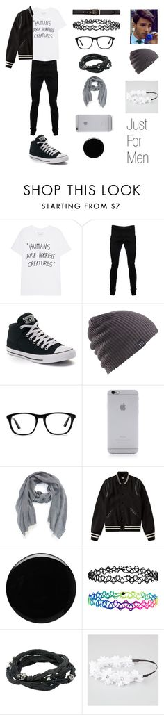 """""""Just For Men"""" by smolbeancat ❤ liked on Polyvore featuring Vivienne Westwood Anglomania, Converse, Burton, Ace, Native Union, Burberry, Yves Saint Laurent, Deborah Lippmann, Accessorize and King Baby Studio"""