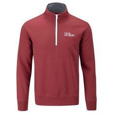 Oscar Jacobson Bradley Half Zip Tour Sweater - Red