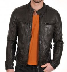 Leather Jacket Brown Hangout Models | Jual Jaket Kulit Pria ...