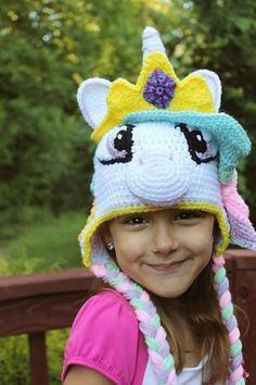 Introducing her royal horseness Princess Celetia of Ponyville!   Check out this amazing My Little Pony Princess Celestia inspired crochet hat tutorial! Now everypony can make this unique, high-quality