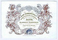 Fleuriste - Antique Belgian Porcelain Card - Gardening Ephemera