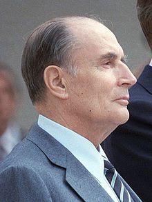François Mitterrand, en 1984  (1916-1996), 21e président de la République française du 21 mai 1981 au 17 mai 1995.