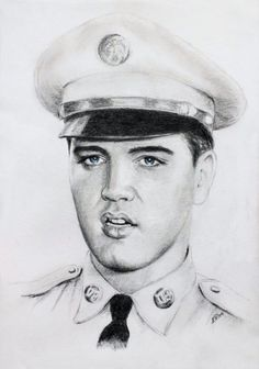 Drawing of Elvis by Ewa Stepien Celebrity Drawings, Celebrity Portraits, Anime Comics, Pencil Drawings, Art Drawings, Films Western, Elvis Presley Pictures, Caricatures, Graceland