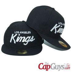 Los Angeles King Black   White New Era Fitted Cap Buy it now  aab72e51bac
