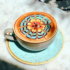 Our signature ColorBurst Latte is almost too pretty to consume. : Our signature ColorBurst Latte is almost too pretty to consume. Coffee Latte Art, Coffee Cafe, Coffee Drinks, Coffee Mugs, Coffee Enema, Coffee Shops, Coffee Bottle, Coffee Tables, Cappuccino Maker