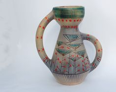 French Vallauris vintage vase  Signed by FrenchTouchBoutique, $99.00
